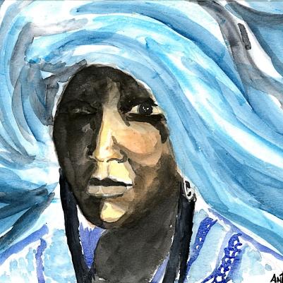 Afrique. travail à l'aquarelle. Original disponible. Print arts disponible.
